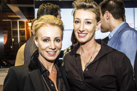 Karen Millen OBE, founder of Teens Unite, pictured at Sunseeker London with her daughter Jordan