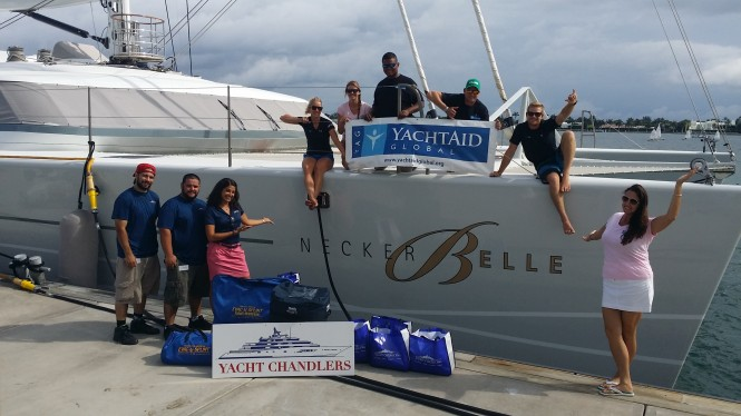 Luxury charter yacht NECKER BELLE and YachtAid Global Volunteers