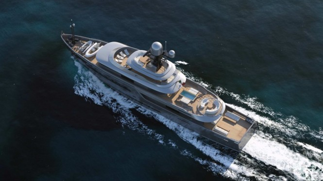 Luxury motor yacht Explorer G2 from above
