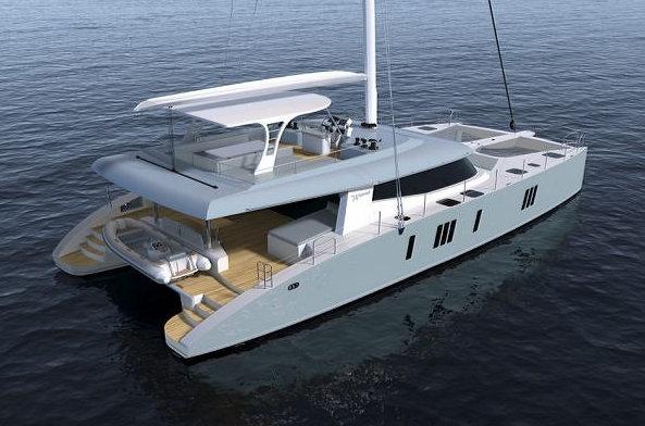 Luxury sailing yacht Sunreef 74