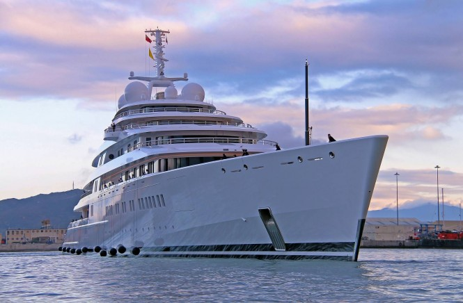 Luxury superyacht AZZAM - Photo by Giovanni Romero/TheYachtPhoto.com