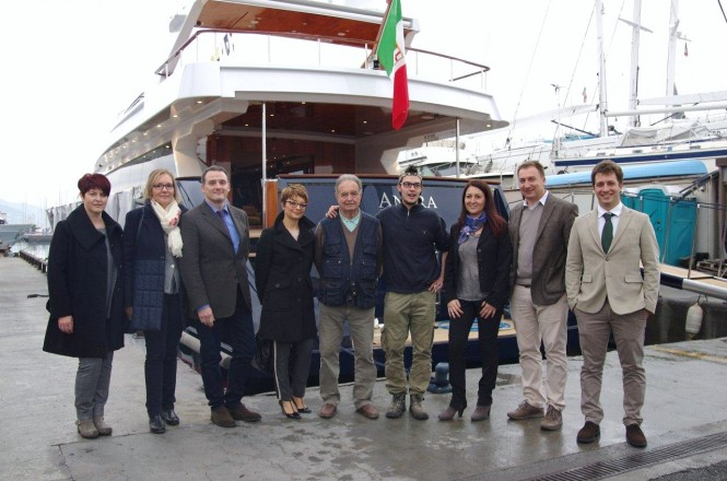 Luxury yacht Angra Too with CNT Staff