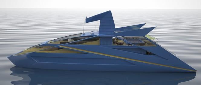 Luxury yacht Blue Bird concept