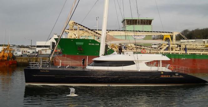 Luxury yacht Mashua Bluu after refit at JFA Yachts