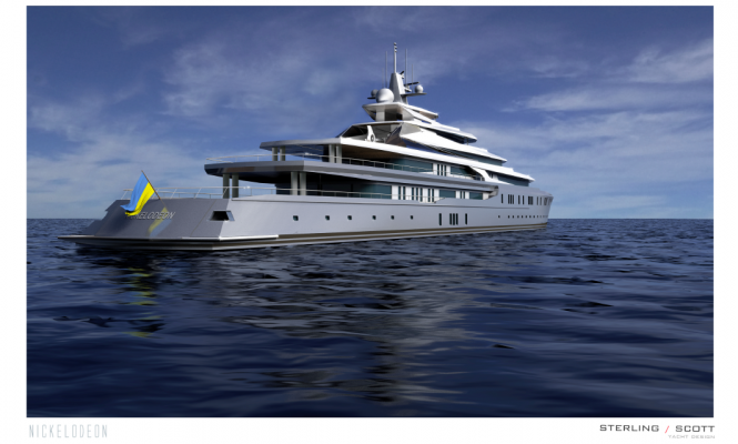 Luxury yacht NICKELODEON project - aft view
