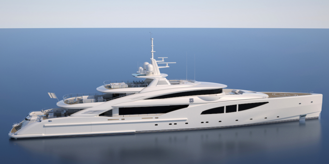 Luxury yacht Route 66 - side view