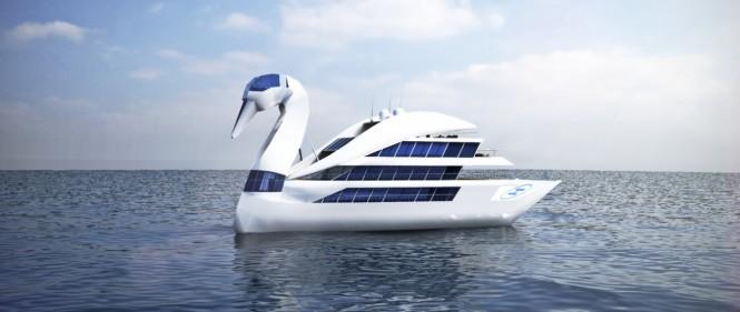 Luxury yacht White Swan concept