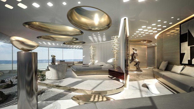 Luxury yacht X-Force 145 - Master Suite
