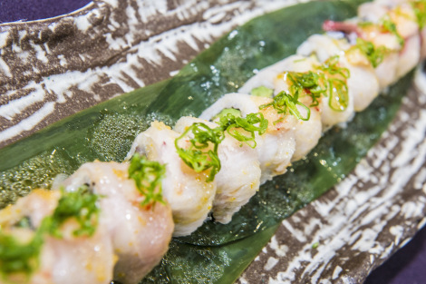 Mayfair restaurant Novikov provided a delectable selection of pan asian canapés for the Sunseeker London party