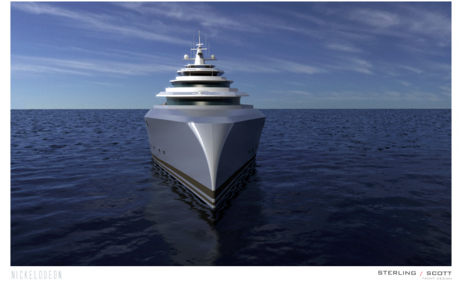 NICKELODEON Yacht Concept - front view