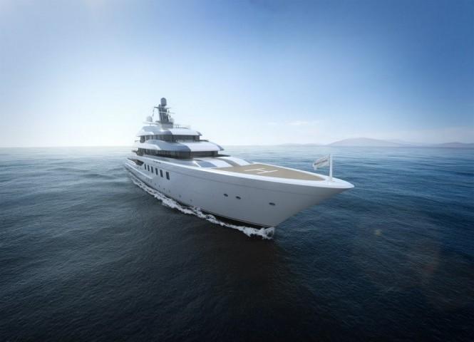 New 80m mega yacht BV80 by Blohm+Voss Yachts