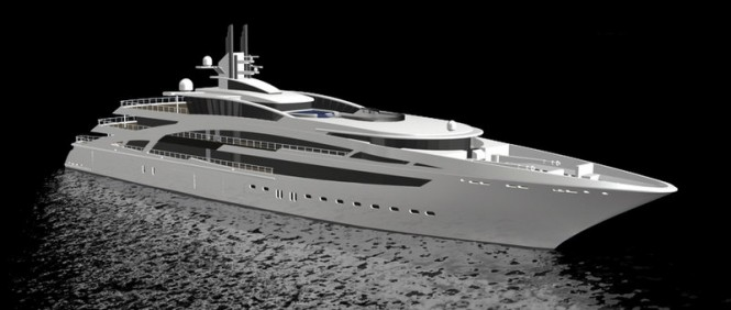 Rendering of Vega Yachts V853 super yacht launched at Kusch Yachts