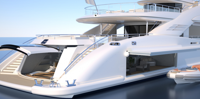 Route 66 Yacht - aft view
