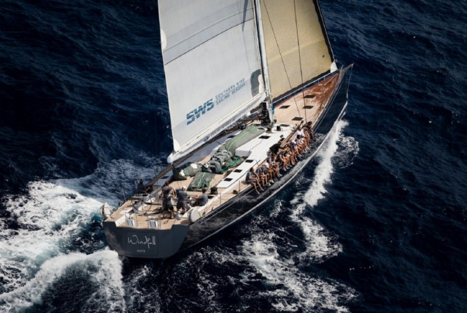 Southern Wind SW94 super yacht Windfall under sail