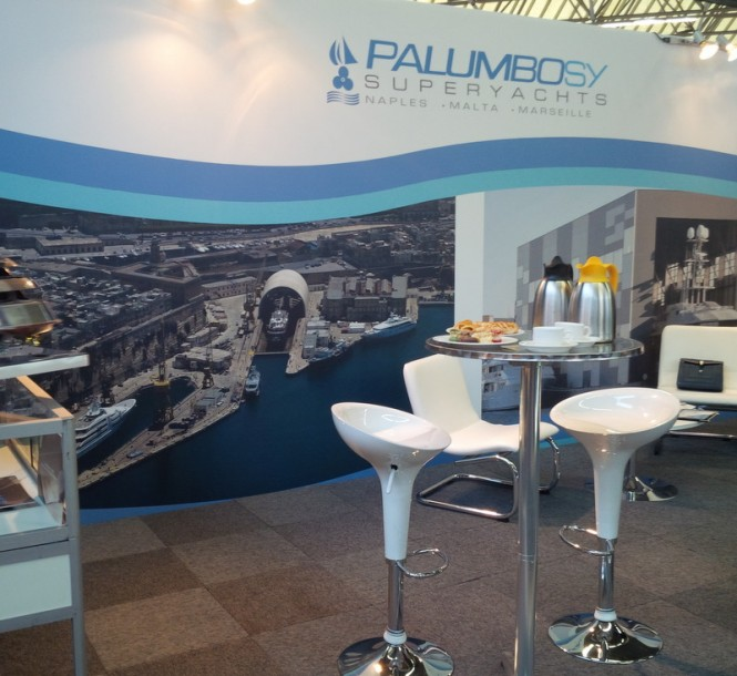 Stand of Palumbo Superyachts at METS 2014