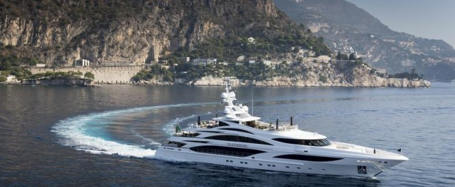 Super yacht Illusion V - side view