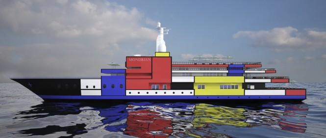 Super yacht Mondrian concept