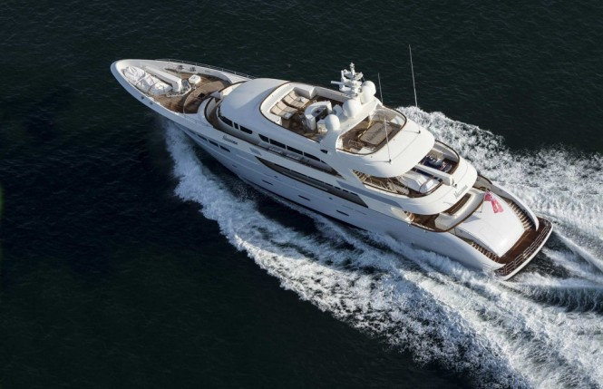 Super yacht Nassima from above