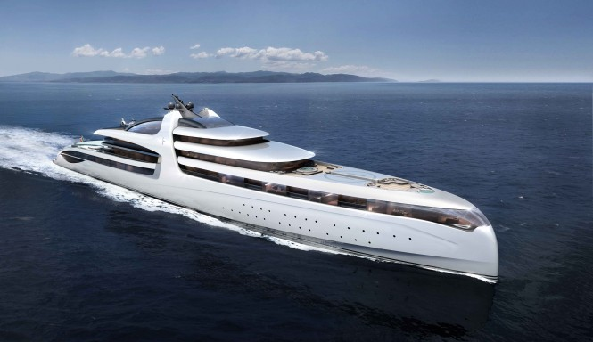 Superyacht X-Force 145 concept - Bow