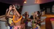 Tahitian dance girls on a Superyacht