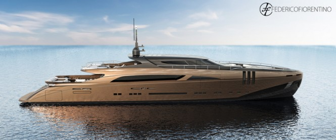 The Belafonte superyacht - side view