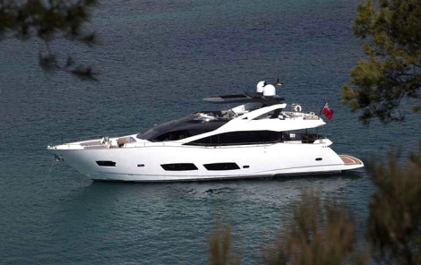 The Sunseeker 28 Metre Yacht will be one of the largest vessels on display at the London Boat Show 2015