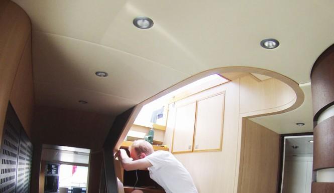Wild Group working on the interior refreshment of luxury charter yacht Asha