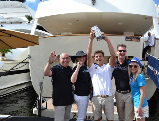 Yachting Pages FunAir award GoPro Camera to Nicholas from motor yacht Zeepaard