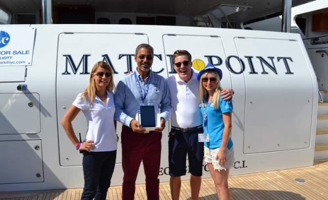 Yachting Pages GMC award iPad mini to superyacht Match Point crew