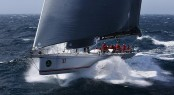 100ft Supermaxi yacht Wild Oats XI at the 2013 Rolex Sydney Hobart Yacht Race - Image by Brett Costello