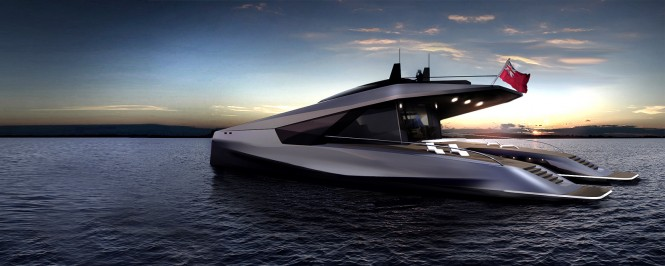 115' JFA and Peugeot Design Lab Yacht Concept - aft view