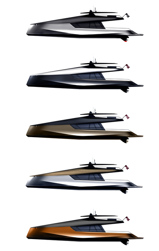 115' JFA and Peugeot Design Lab luxury yacht concept