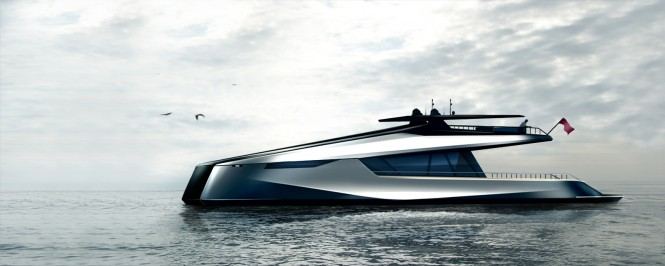 115' JFA and Peugeot Design Lab superyacht concept - side view