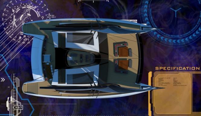 35m twin mast catamaran Solstice concept - Plan