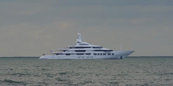 88,5m mega yacht Y710 by Oceanco - Image credit to Kees Torn