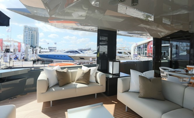 Aboard superyacht Arcadia 85 US Edition (hull #8)