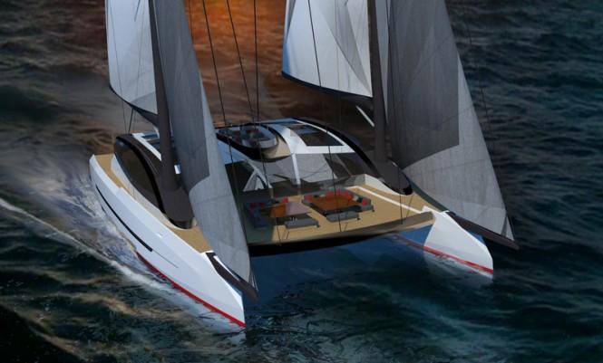 Catamaran Solstice concept - front view