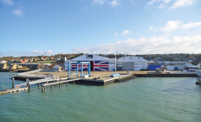East Cowes on the Isle of Wight, UK