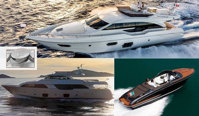 Ferretti Yachts 690, the Custom Line Navetta 28 Crescendo and the Riva Iseo