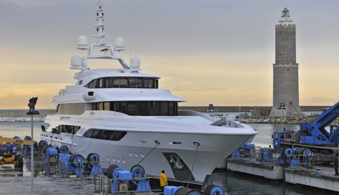 Formosa superyacht on the water