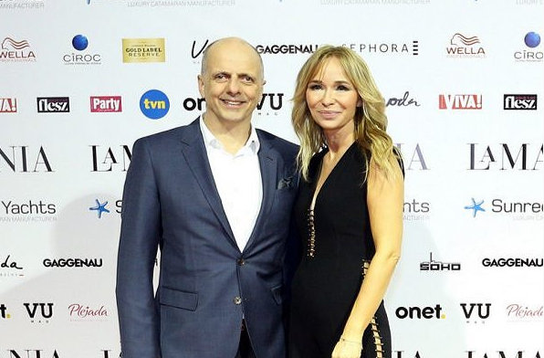 Founder and President of Sunreef Yachts- Francis Lapp and the Creative Director of the La Mania Fash