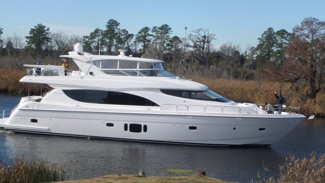 Just delivered 24m superyacht Hatteras 80MY by Hatteras Yachts