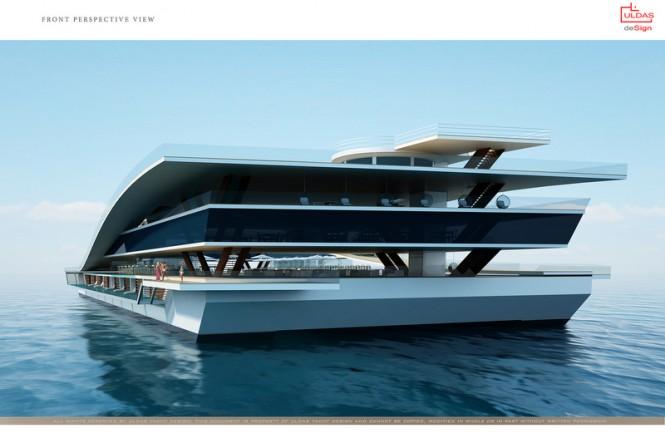 Latest 130m catamaran concept by Uldas Design