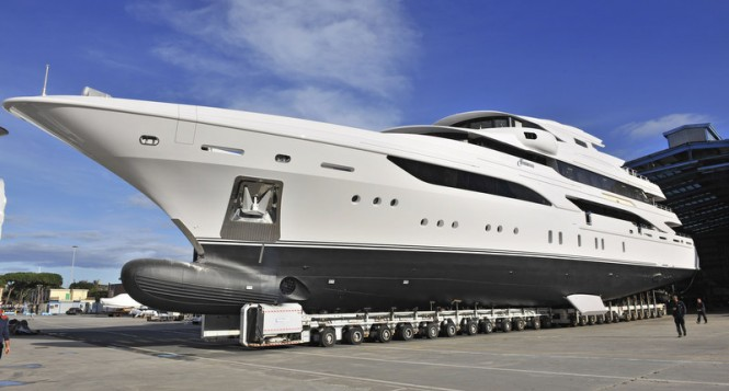 Luxury motor yacht Formosa at launch