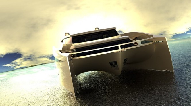 Luxury yacht 115 Sunreef Power concept
