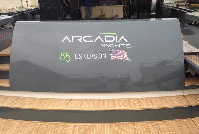 Luxury yacht Arcadia 85 US Edition (hull #8) - aft view