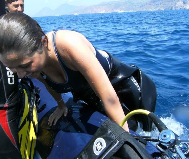 Luxury yacht OMBRE BLU - Scuba Diving