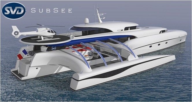 Luxury yacht Project Subsee - aft view