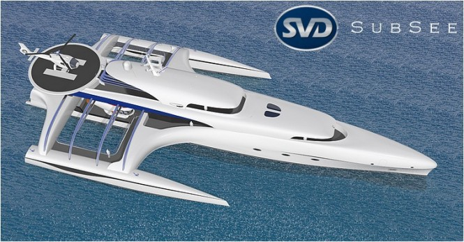 Motor yacht Project Subsee from above