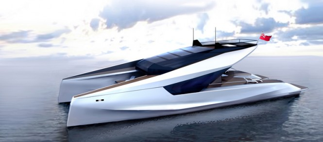 New 115' Power Catamaran Concept by JFA Yachts and Peugeot Design Lab
